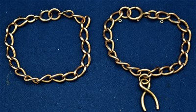 Lot 19-Two 9ct bracelets