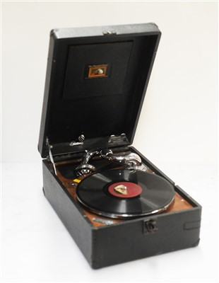 Lot 51 - His Masters Voice portable gramophone