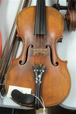 Lot 133-Stradivari copy Violin