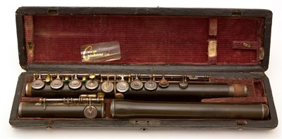 Lot 26 - A Rudall Carte Flute cased