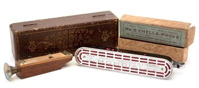 Lot 24 - Mondial Chromatic harmonica and a Chella-phone