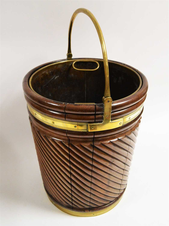Lot 1074-George III peat bucket