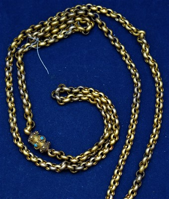 Lot 20-Yellow metal necklace