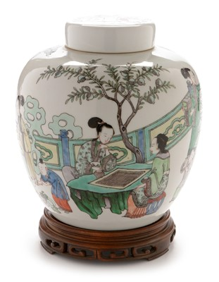 Lot 468-A late 19th Century Chinese ginger jar
