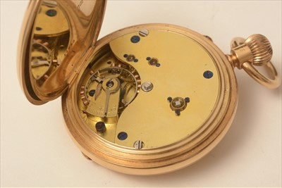 Lot 33 - 18ct gold half hunter pocket watch