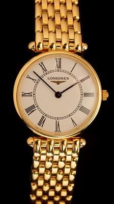 Lot 51 - Longines Agassiz: An 18ct yellow gold lady's wristwatch