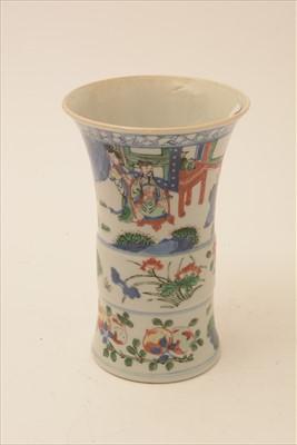 Lot 461-Chinese Wucai Gu form vase