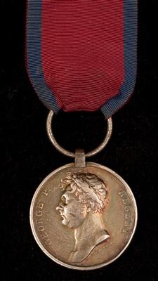 Lot 1664-Waterloo medal
