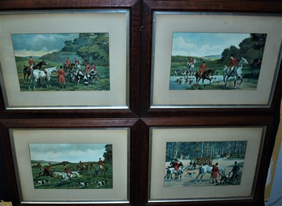 Lot 501-A set of four lithographs after Charles-Fernand de Condamy