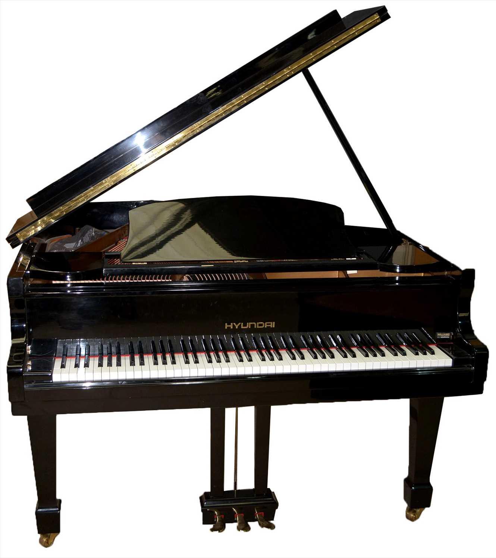 Lot 1002 - An Hyundai Model G-80A baby grand piano.