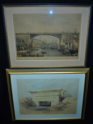 Lot 504-W* & A* K* Johnston after W* R* Robinson engraving and a print