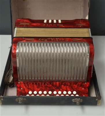 Lot 73A - Hohner Double-Ray Black dot Accordion