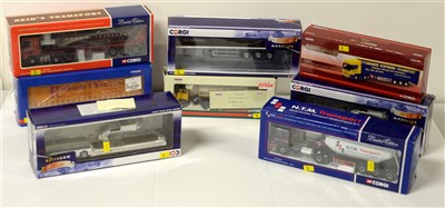 Lot 1254 - Limited edition die-cast model road haulage vehicles by Corgi.