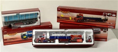 Lot 1255 - Limited edition die-cast model road haulage vehicles by Corgi.