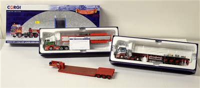 Lot 1256 - Limited edition die-cast model road haulage vehicles by Corgi.