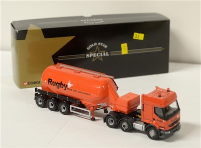 Lot 1278 - A die-cast model Renault 'Rugby' cement tanker.