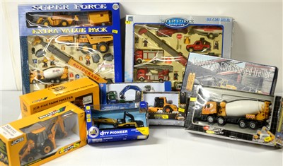 Lot 1298 - Die-cast model earth moving and similar vehicles.