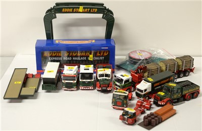 Lot 1274 - Eddie Stobart curtainside trailer; and sundry road haulage vehicles.