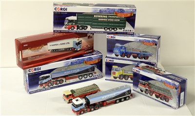 Lot 1288 - Die-cast model road haulage vehicles by Corgi.