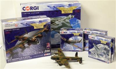 Lot 1290 - Limited edition die-cast model aeroplanes by Corgi.