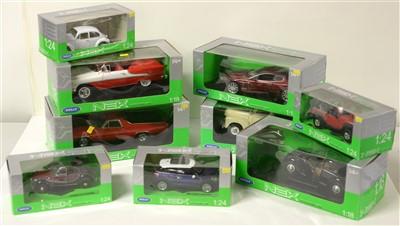 Lot 1293 - Die-cast model cars by Nex Models.
