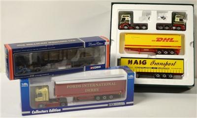 Lot 1291 - Corgi die-cast 'Haigh Transport' set; and two trucks.
