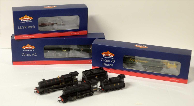 Lot 1405-Five Bachmann locomotives.
