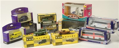 Lot 1253 - Die-cast model cars and buses.