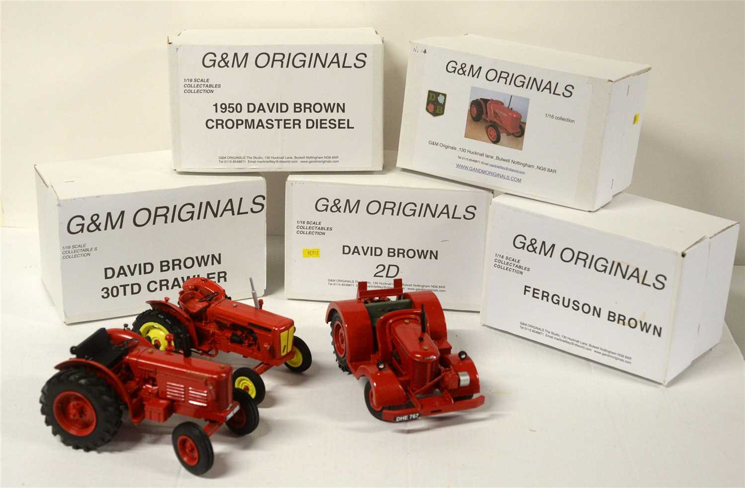 Lot 1323-Die-cast 1/16th scale model tractors by G & M Originals.