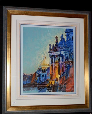 "Lot 301-After H*** F*** , ""Venice Twilight"", signed and..."