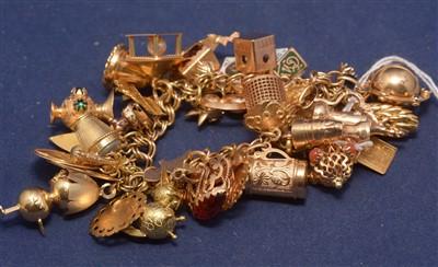 Lot 551-Charm bracelet