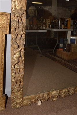 Lot 1034-A Baroque style giltwood wall mirror