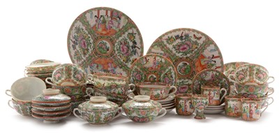Lot 480-20th Century Canton dinner, tea and coffee service