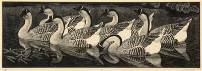 Lot 634-Charles Frederick Tunnicliffe - print.