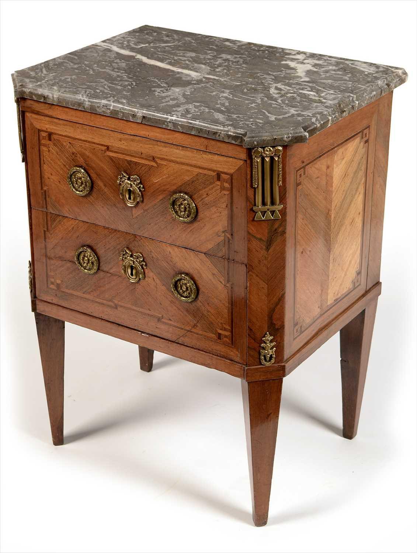 Lot 1010 - A Louis XVI kingwood and gilt bronze mounted petite commode