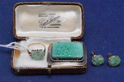 Lot 1-Jade and effect jewellery
