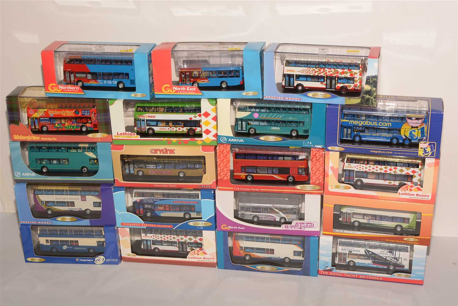 Lot 1251-Die-cast model buses by Creative Master