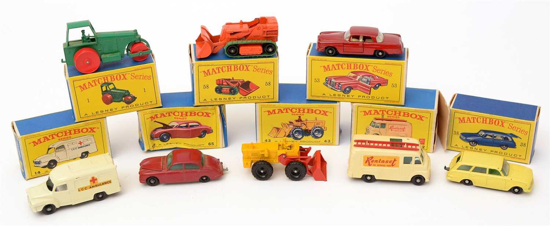 Lot 1362-Matchbox series die-cast vehicles