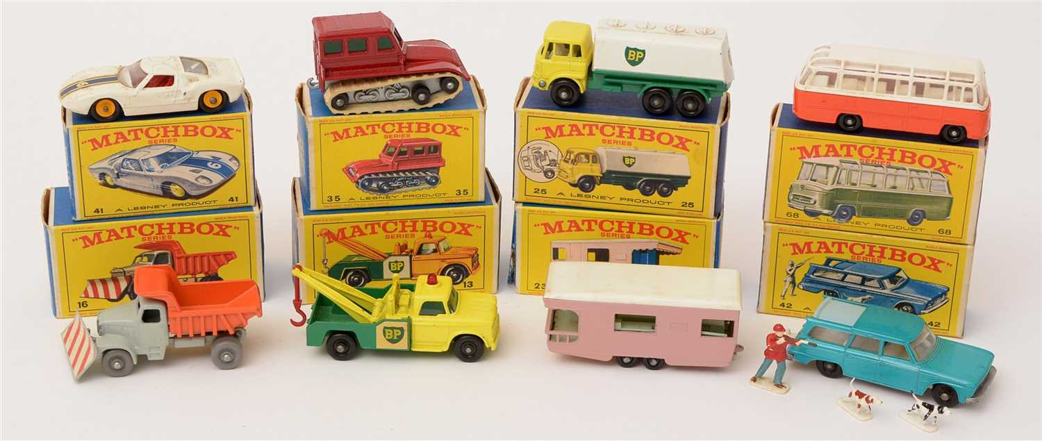 Lot 1365-Matchbox series die-cast vehicles