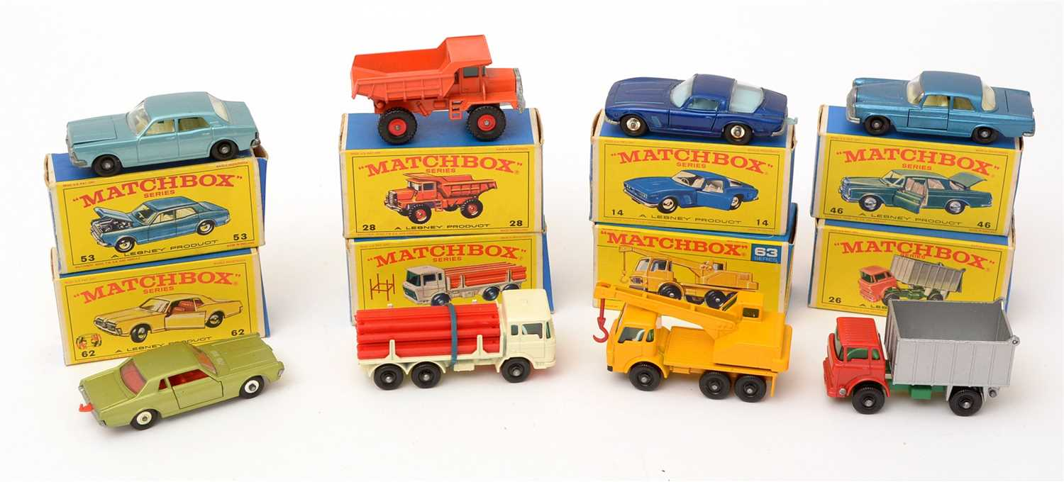 Lot 1372-Matchbox series die-cast vehicles
