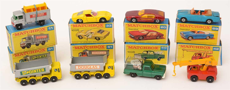 Lot 1373-Matchbox series die-cast vehicles
