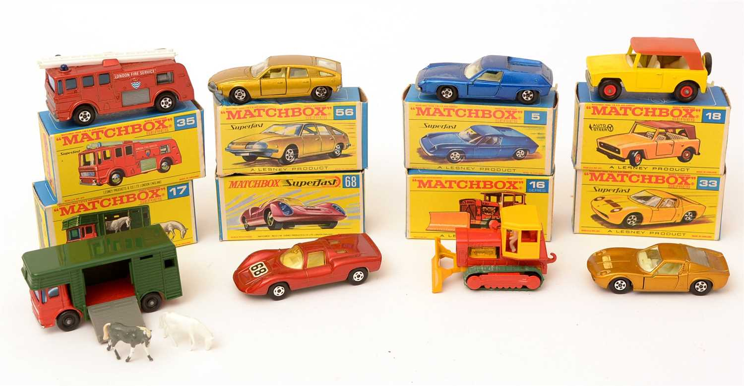 Lot 1374-Matchbox series die-cast vehicles