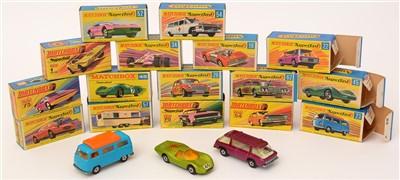 Lot 1375-Matchbox series Superfast die-cast vehicles
