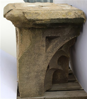 Lot 7-N19a; Partial Upper Course Stone, Blind Tracery.
