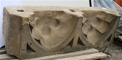 Lot 12-W45; Lower Course Stone, Blind Tracery.