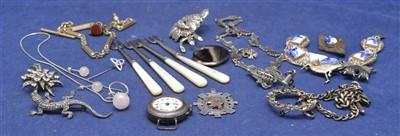 Lot 12-Silver costume jewellery