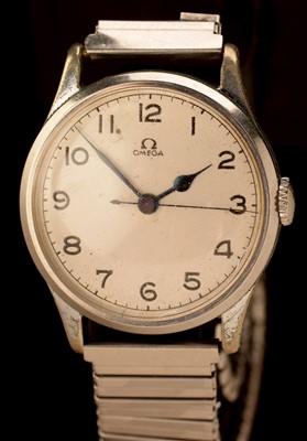 Lot 29 - Omega steel wristwatch c1940