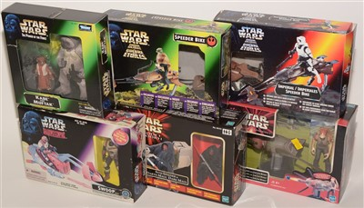 Lot 1217-Star Wars figurines and diorama sets.