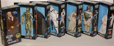 Lot 1229 - Large-scale Star Wars figurines.