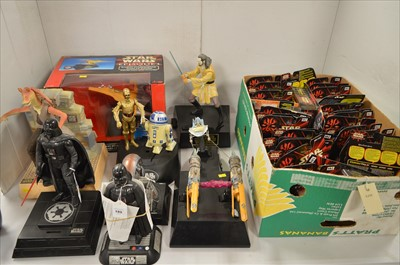 Lot 1230 - Star Wars figurines, from the Episode I series,...